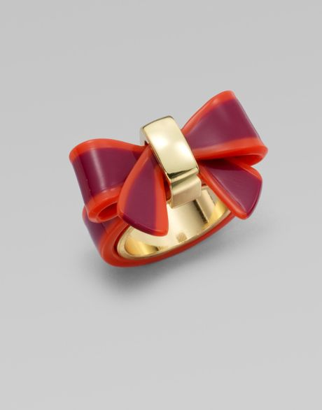 Marc By Marc Jacobs Colorblocked Bow Ring in Red - Lyst