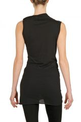 Rick Owens Heavy Viscose Cotton Jersey Top in Black - Lyst
