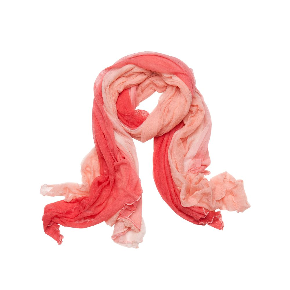 bajra ombre gauze oversized scarf in pink coral lyst