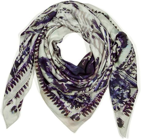 Balmain White Modal and Cashmere Blend Scarf in White - Lyst
