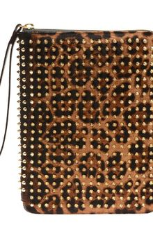 Christian Louboutin Cris Studded Calf Hair Ipad Case - Lyst