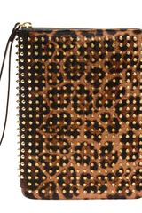 Christian Louboutin Cris Studded Calf Hair Ipad Case