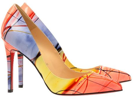 Christian Louboutin 'Pigalle 100' Pollock Printed Leather Court Shoes in Multicolor (multi) - Lyst
