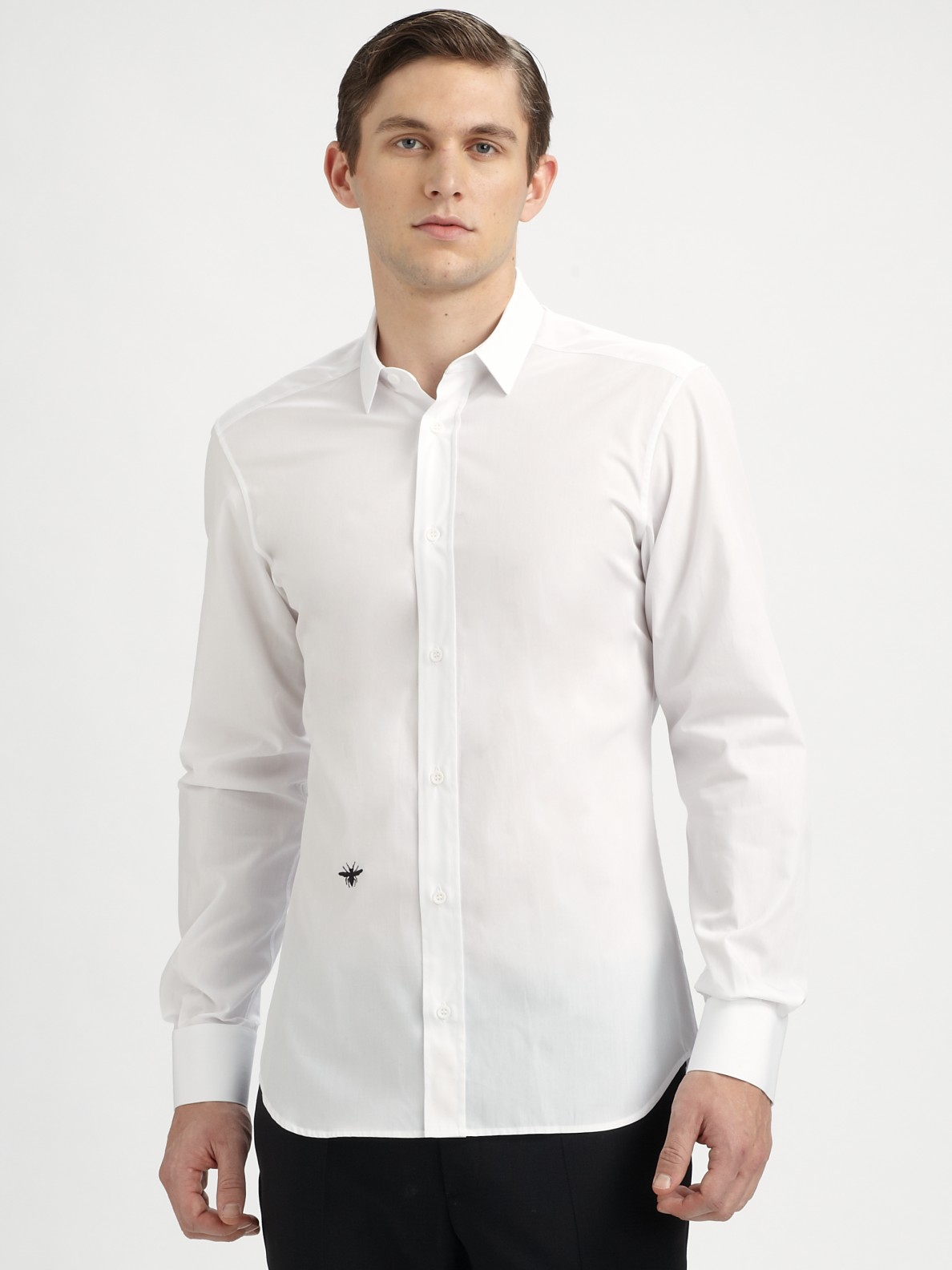 dior homme poplin dress shirt in white for men lyst