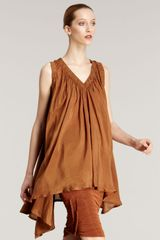 Donna Karan New York Washed Habutai Tunic - Lyst