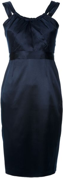 Elie Tahari Simone Dress in Blue (black)