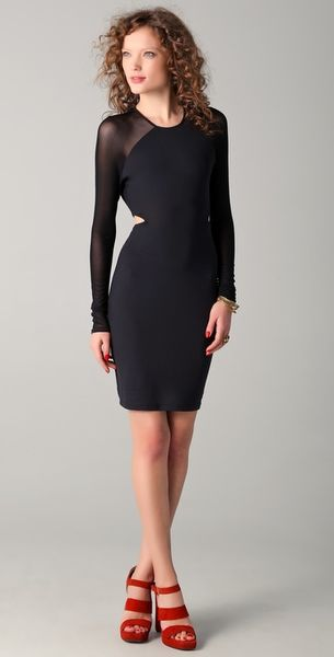 Elizabeth And James Karlie Dress in Black