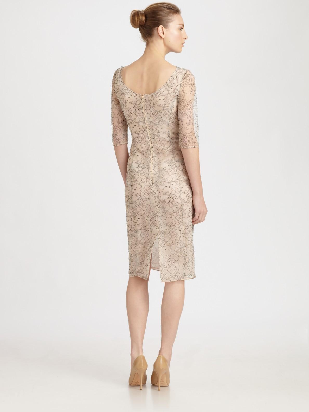 Erdem Lace Dress in Natural | Lyst