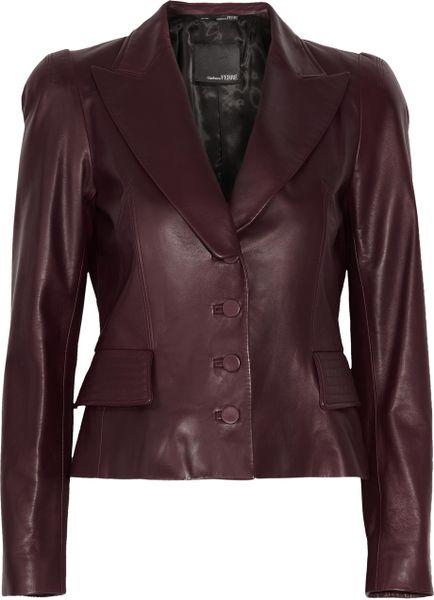Gianfranco Ferré Leather Jacket in Purple (burgundy) | Lyst