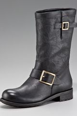 Jimmy Choo Biker Buckled Motorcycle Boot - Lyst
