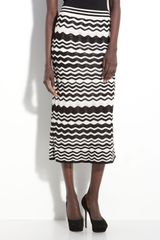M Missoni Pointelle Knit Wave Midi Skirt - Lyst