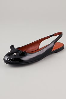 Marc By Marc Jacobs Sling Back Mouse Flats - Lyst