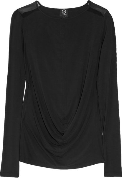 Mcq By Alexander Mcqueen Stretchjersey Top in Black - Lyst