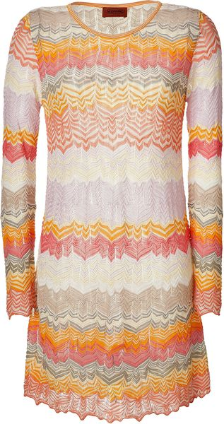 Missoni Lychee and Lavender Multicolor Dress - Lyst