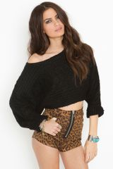 Nasty Gal Sideways Crop Knit