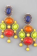 Oscar de la Renta Multicolor Resin Earrings - Lyst
