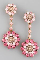 Oscar de la Renta Rhinestone Drop Earrings - Lyst