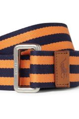 Polo Ralph Lauren Striped Cotton Twill Belt - Lyst