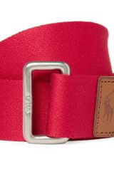 Polo Ralph Lauren Woven Cotton Belt - Lyst