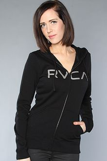 RVCA The Big Rvca Zip Hoody in Black - Lyst