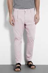 D&g Light Pink Pleat Drop Carrot Chinos in Pink for Men - Lyst