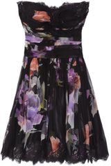 Dolce & Gabbana Floral-print Silk-blend Chiffon Dress - Lyst