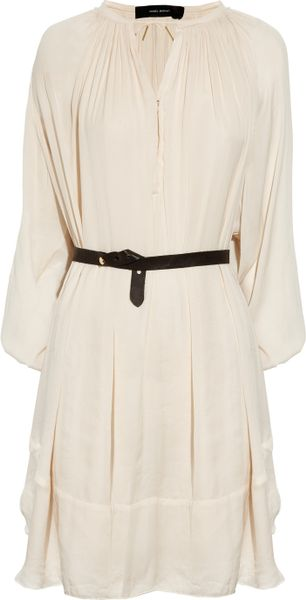 Isabel Marant Fimo Sateen Dress in Beige - Lyst