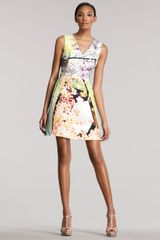 Mary Katrantzou Balalaika-print V-neck Dress - Lyst