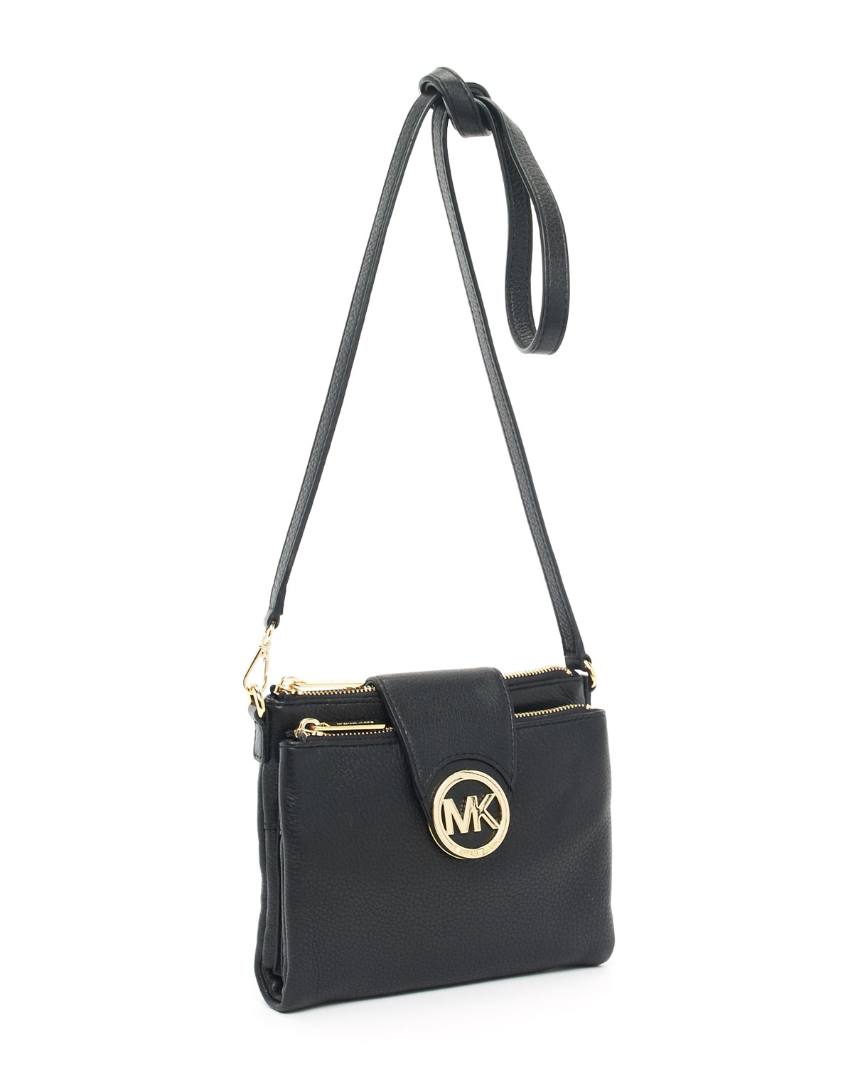 58a047eba938 Michael Kors Fulton Large Crossbody in Black - Lyst