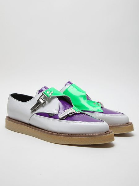 Mugler Underground For Mens Patent Shoe in Purple for Men - Lyst