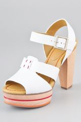 See By Chloé Wooden Platform Sandals - Lyst