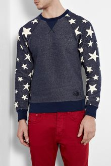 Vivienne Westwood Anglomania Indigo Marl Star Athletic Sweat Shirt - Lyst