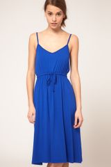 ASOS Collection Asos Midi Summer Dress with Tie Waist - Lyst