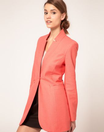 ASOS Collection Asos Slim Coat in Cotton - Lyst