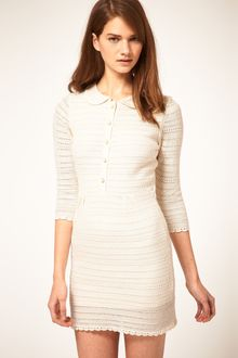 ASOS Collection Asos Shirt Dress in Crochet Stitch - Lyst