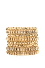 ASOS Collection Asos Gold Metal Bracelet Pack - Lyst