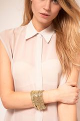 Asos Collection Asos Gold Metal Bracelet Pack in Gold - Lyst