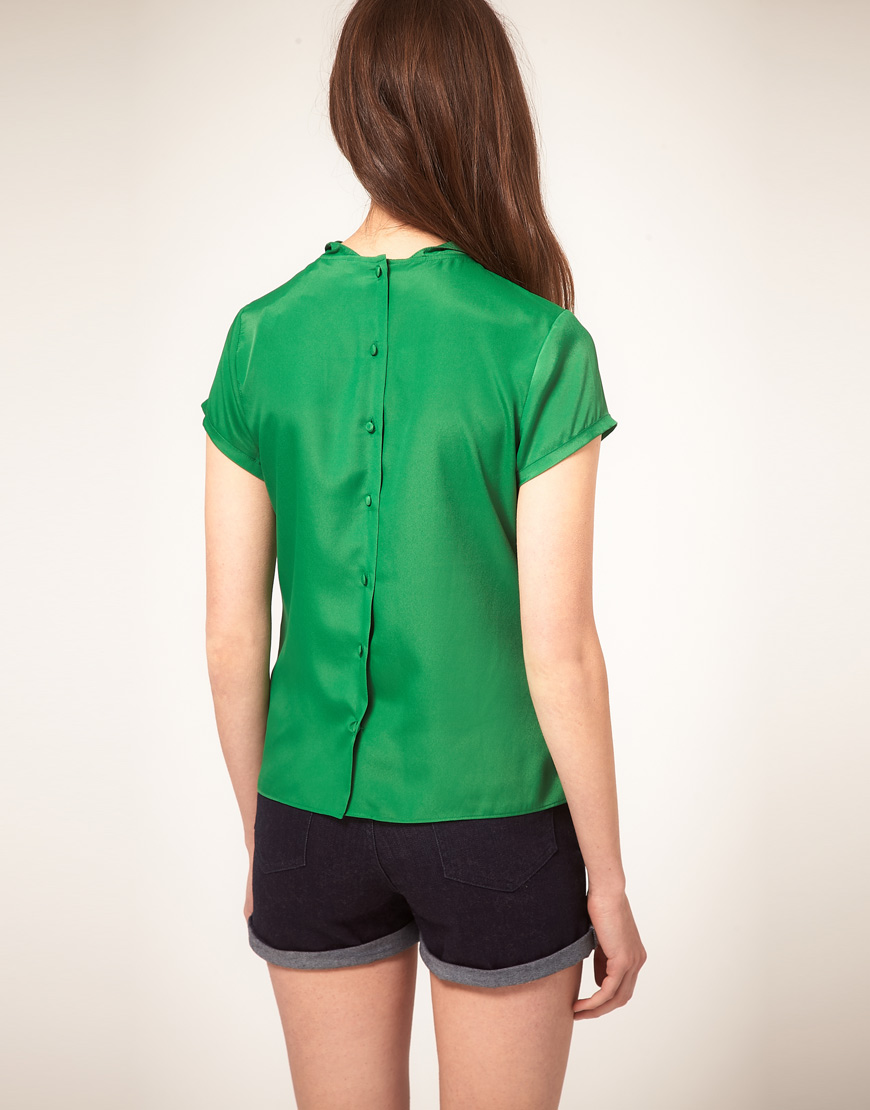 Asos Green Blouse