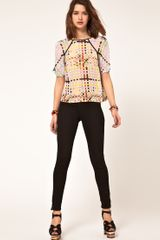 Asos Collection Asos Woven Tshirt with Mixed Square Print in Multicolor (multi) - Lyst