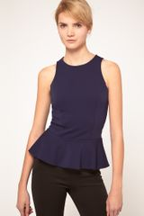 ASOS Collection Asos Shell Top with Peplum - Lyst