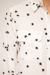Equipment Slim Fit Two Pocket Star Print Shirt in White - Lyst