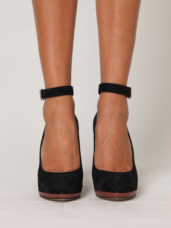 Free People Lana Ankle Strap Heel In Black Lyst
