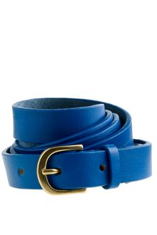 J.Crew Italian Leather Skinny Belt - Lyst