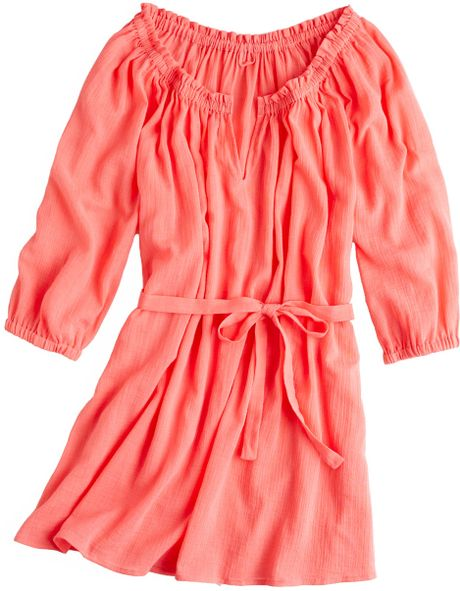 J.crew Whisper Gauze Baja Tunic in Orange (bright papaya) - Lyst