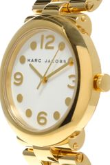 Marc By Marc Jacobs Gold Bracelet Watch in Gold - Lyst