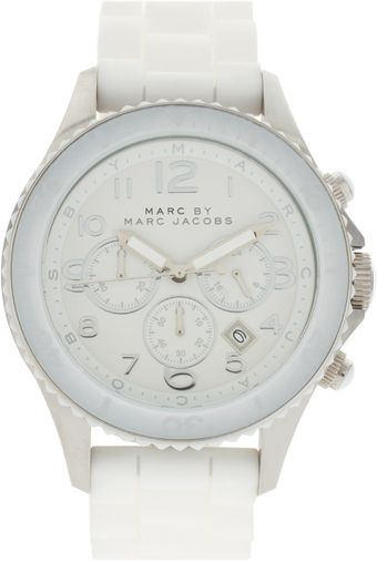 Marc By Marc Jacobs White Marine Rock Watch - Lyst