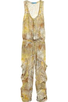 Matthew Williamson Zodiac Printed silk-chiffon jumpsuit - Lyst