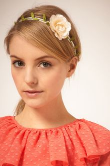 Asos Flower And Petal Stretch Headband - Lyst