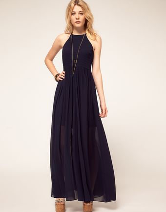 French Connection French Connection Halter Maxi Dress - Lyst