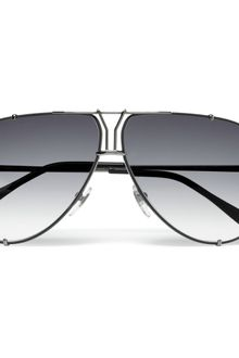 Yves Saint Laurent Y Logo Aviator Sunglasses - Lyst